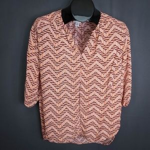 Stylus Top Shirt Size Medium Orange Womens Career